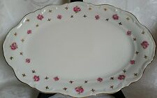 WINTERLING CHINA HERITAGE ROSEBUDS SERVING PLATTER MINT NEW ROSES& GOLD BAVARIA
