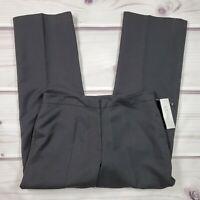 Kasper Dress Pants Womens Size 12 Solid Black High Rise Waist Lined Stretch NWT