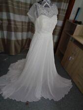 (19)Edles Damen Braut Standesamt Abend Kleid GR: GR: 40