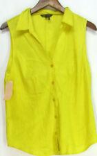 Linen Solid Sleeveless Tops & Blouses for Women