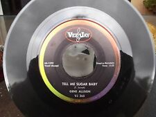 GENE ALLISON ON VEE-JAY RECORDS TELL ME SUGAR BABY / ASK