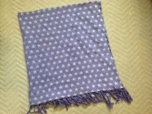 H&M Purple Square Star Cotton Scarf
