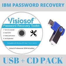 IBM de réinitialisation du mot de passe Recovery Removal DVD USB Windows 10 8 7 Vista XP