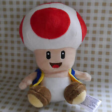 "NEW SUPER MARIO BROS. 6"" Red Toad Stuffed Doll plush toy"