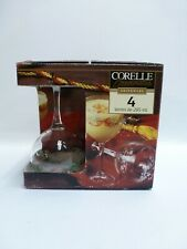 Corelle Coordinates Glassware Callaway Holiday Set of 4 10 oz Goblets New