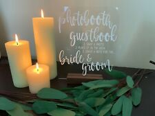 Wedding Photo Booth Guest Book Sign
