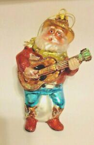 Guitar Playing Santa Ornament (Radco-style)