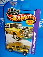Hot Wheels New For 2013 American Turbo #190 '55 Chevy Bel Air Gasser Gold