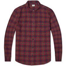 BNWT Edwin Labour Flannel Shirt  Wine  Medium