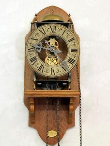 Alte Wanduhr Hermle Skelettuhr,Skeleton Clock *TEMPUS FUGIT * mit holzstuhl