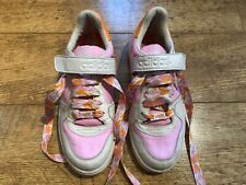 Women's ADIDAS Rare Missy Elliot Pink & White High Top Trainers UK Size 5