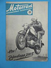 Internationale Fachzeitschrift MOTORRAD 25 -1955 Zündapp 200 S , Delta-Gnom 1955
