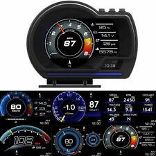 HUD OBD2+GPS Car Head Up Digital Display Gauge Speedometer Turbo RPM Alarm Temp
