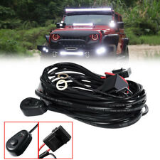 Universal Auto Driving Fog Work Light Wiring Harness Kit LED Bar Switch Cable