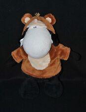 Peluche doudou mouton noir blanc SHEEPWORLD déguisé en ours brun 26 cm NEUF