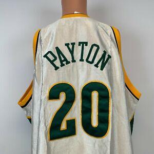 Reebok Authentic Gary Payton Seattle Sonics Jersey Vtg 2000s NBA Sewn Size 56