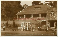 Scotland Trossachs Tea Room & Memorial Fountain Real Photo Vintage Postcard 11.8