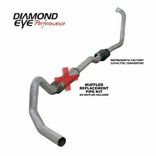 "Diamond Eye 4"" Turbo-Back Exhaust Aluminum 03-05 Ford 6.0L Excursion No muffler"