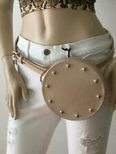 NEW REBECCA MINKOFF Neutral Nude Circular Studded Leather Belt Bag MSRP $118.00!