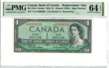 Canada $1 Dollar Banknote 1954 BC-37bA PMG Choice UNC 64 EPQ Replacement / Star