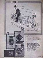 PUBLICITÉ DE PRESSE 1957 CIGARETTES JOB BASTOS MÉLIA - COQ - TABAC