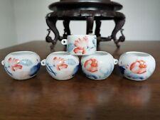 1set 5pcs Asian Bamboo Bird Cage flower food cups 花·鸟食�
