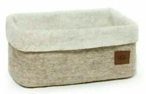 Ugg Medium Jade Cove Felted 100% Sheep Wool Basket Sand w/Light Sand