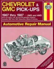 Haynes Manual Chevrolet Chevy GMC 1967-1987 Truck Repair Manual 24064 Pick Ups