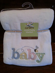 Carters Sweet Baby Blanket - PINK - NEW - READY TO SHIP