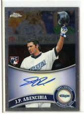 2011 TOPPS CHROME #182 J.P.ARENCIBIA AUTOGRAPH AUTO  ROOKIE CARD RC  - BLUE JAYS
