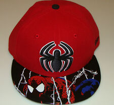 Spiderman New Era Cap Hat Fitted 7 3/8 Viza Foil Marvel Comic 59Fifty Brim Logo