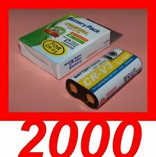 "★★★ ""2000mA"" BATTERIE Type CRV3/CR-V3 ★★★ Pour  Pentax Optio 43WR / S30 / S40"