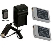 TWO Batteries +Charger for Canon Digital IXUS 900 TI 950 IS 960 IS 970 IS 980 IS