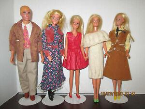 Malibu Barbie Ken and Francie group