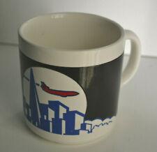 Vintage United Airlines Polaris Executive City Skyline Coffee Mug