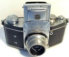 Ihagee Kine Exakta II 35mm SLR Camera w/ Carl Zeiss Jena T Tessar 5cm f/3.5 Lens