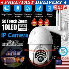 IP Camera 1080P Wifi Outdoor Security HD Waterproof Two Way Audio Motion Sensor