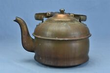 Antique COPPER TEA KETTLE GOOSENECK with WOOD COOKING STOVE BOTTOM HTF #04538