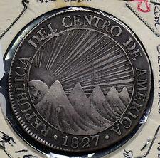 C0207 Central American Republic 1827 8 reales silver combine shipping