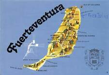 Spain Fuerteventura Plan of the Island Plano de la Isla Map