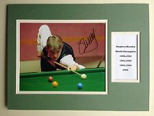 "Snooker Stephen Hendry Signed 16"" X 12"" Double Mounted Display"