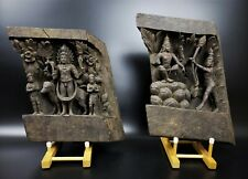 19th C. PAIR OF ANTIQUE HINDU TEMPLE CHARIOT CARVINGS FROM INDIA