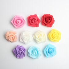 100pcs Artificial Roses Foam Flowers Heads for Wedding Bridal Garland Decor 6cm