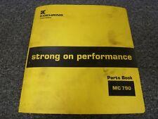 Koehring Lorain MC790 MC-790 Lattice Boom Truck Crane Parts Catalog Manual