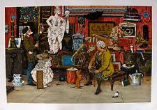 "BRUCE BOMBERGER ""ANTIQUE SHOP"" Hand Signed Limited Edition Lithograph Art"