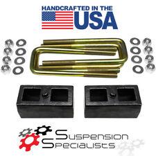 """2"""" Rear Lift Blocks Kit  w/ U Bolts 1999-2006 Toyota Tundra 4X4 4WD"""