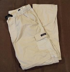 Eddie Bauer Lightweight Nylon Convertible Cargo Pants 4  Men Size Medium Khaki