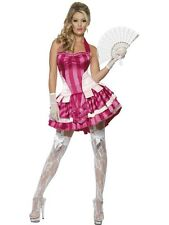 French Fancy Costume Pink - French Lady  Medium UK 12/14 - Ladies Fancy Dress