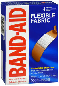 "Band-Aid Bandages Flexible Fabric 1"" x 3"" 100ct"