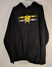 Rockstar Energy Drink Black Pullover Hoodie Long Sleeve Sweatshirt Mens XL